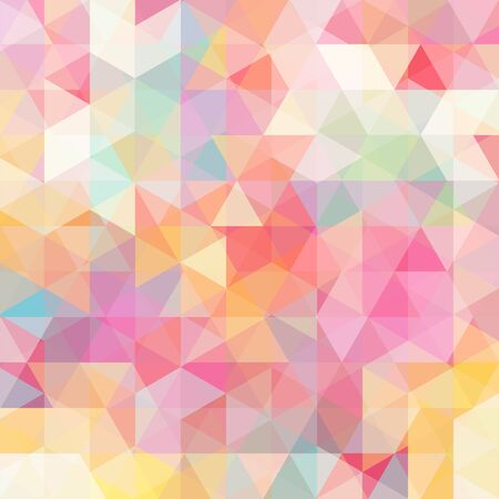 mosaic background: abstract background consisting of triangles Illustration