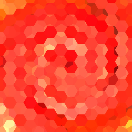 inlay: abstract background consisting of hexagons Illustration
