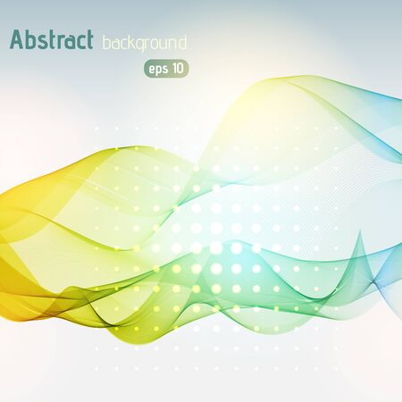 abstract waves: Vector abstract colorful waves background, vector