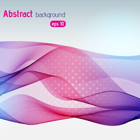 Vector abstract colorful waves background, vector Vector
