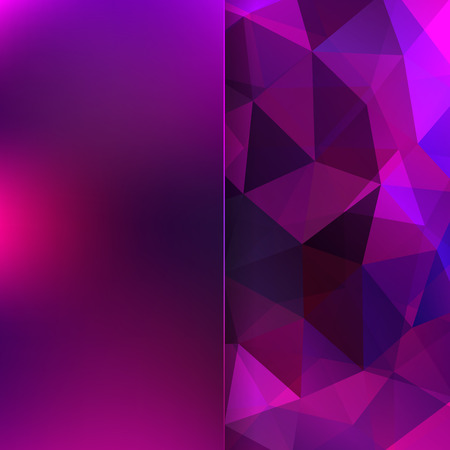 abstract background consisting of triangles and matt  glass Vector