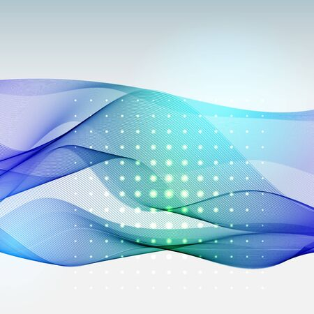 abstract waves background: Vector abstract colorful waves background