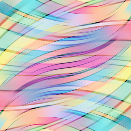 Colorful smooth light lines background. Vector illustration Vettoriali