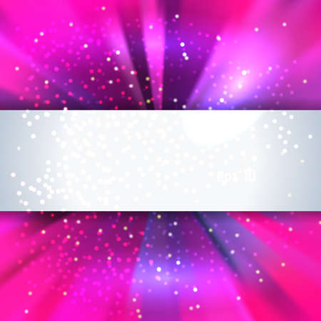 place to shine: Purple abstract shine background with place for text, vector illustration