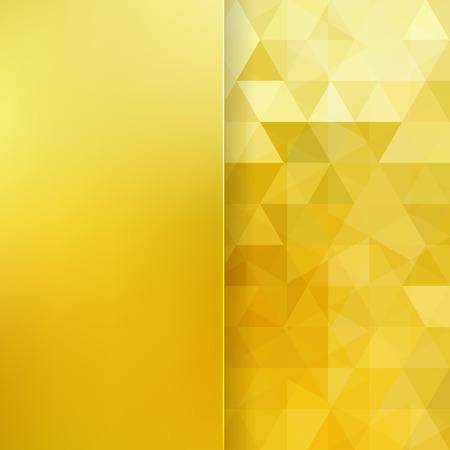dorado: Fondo abstracto que consiste en triángulos y cristal mate