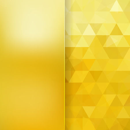 golden: abstract background consisting of triangles and matt  glass