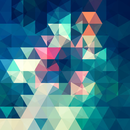celadon green: abstract background consisting of triangles Illustration