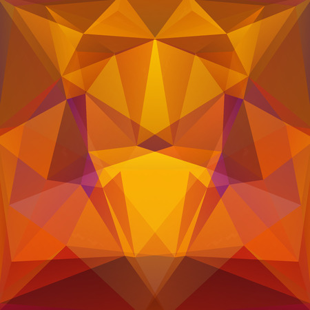 naranja color: abstract background consisting of triangles Vectores