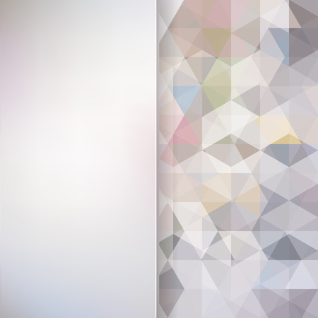 silver background: abstract background consisting of triangles and matt  glass, vector illustration
