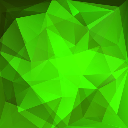 green wallpaper: abstract background consisting of triangles, vector illustration