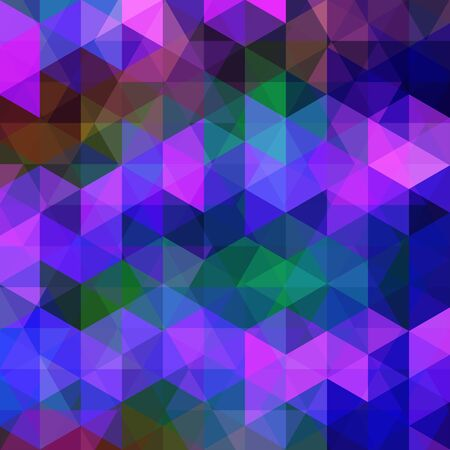 multicolored: abstract background consisting of triangles, vector illustration