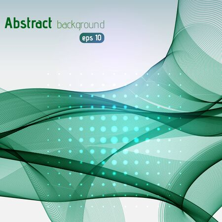 waves: Vector abstract colorful waves background, vector illustration Illustration