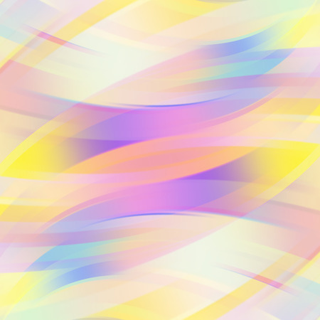 Colorful smooth light lines background. Vector illustration Ilustração