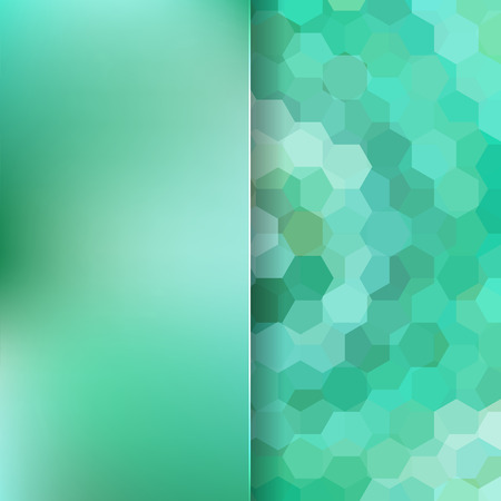 abstract background consisting of hexagons and matt glass, vector illustration