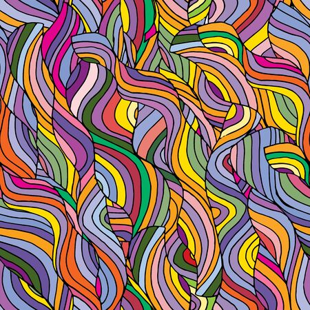 waves: colorful seamless waves background, cool vector illustration