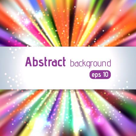 burst background: Vintage colorful template with burst background, vector illustration