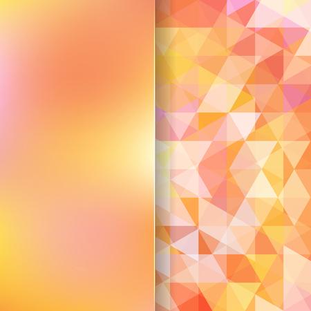 matt: abstract background consisting of yellow, orange triangles and matt  glass