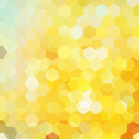abstract background with yellow hexagon, vector illustration