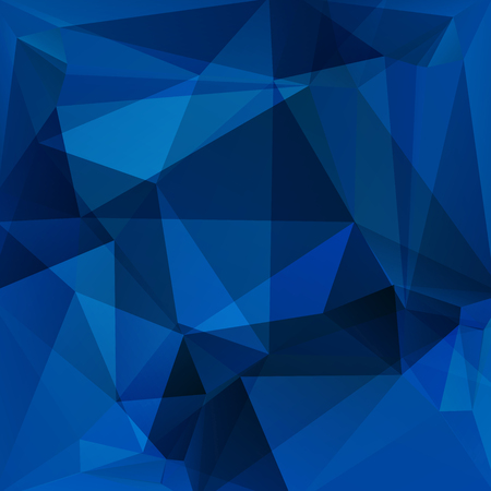 abstract background consisting of dark blue triangles, vector illustration
