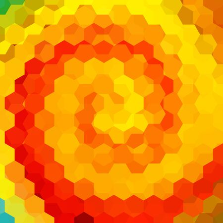 imposition: abstract background consisting of yellow, red, orange hexagons, vector illustration