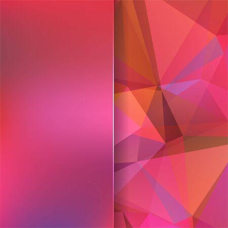 matt: abstract background consisting of pink, orange triangles and matt  glass, vector illustration Illustration