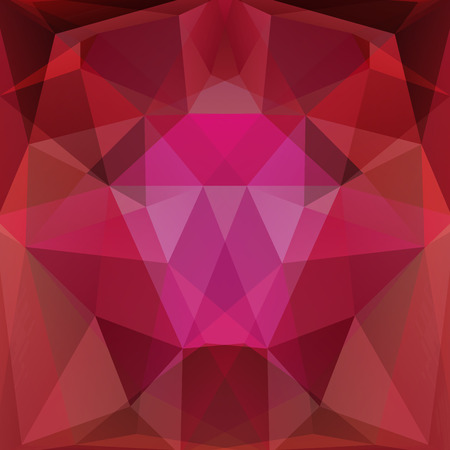 specular: abstract background consisting of red, brown, purple triangles. Vector illustration