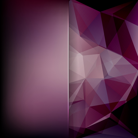 purple abstract background: abstract background consisting of purple triangles and matt glass, vector illustration Illustration