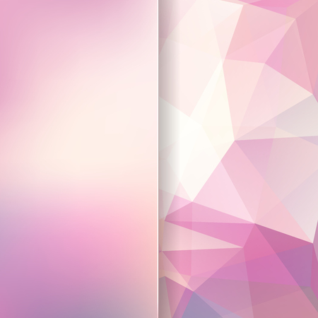 matt: pastel abstract background consisting of pink, white triangles and matt glass, vector illustration