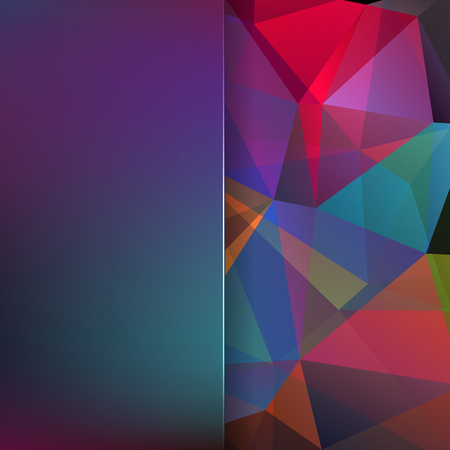 matt: abstract background consisting of colorful triangles and matt glass, vector illustration Illustration