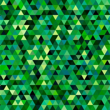 abstract background consisting of small green, black triangles, vector illustration