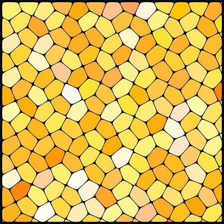 geometrical shapes: abstract background consisting of of yellow, white geometrical shapes, vector illustration Illustration