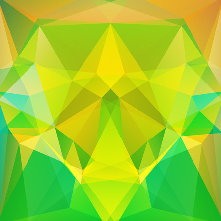 abstract background consisting of yellow, green triangles, vector illustration Illustration