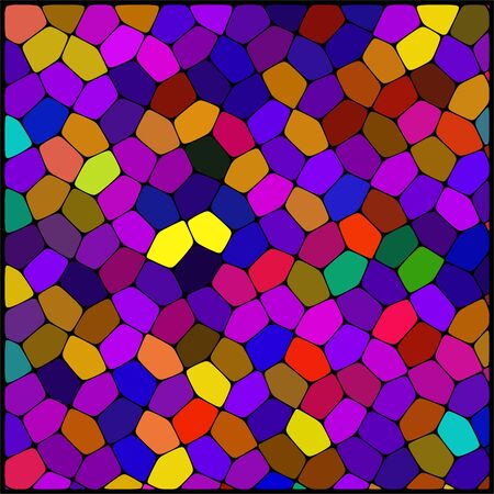 cobble: abstract background consisting  of geometrical shapes with thick black borders, vector illustration