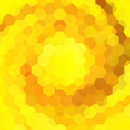 imposition: abstract background consisting of yellow, orange hexagons, vector illustration