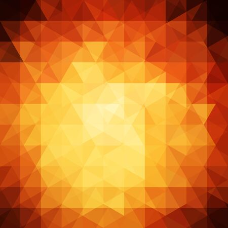 yellow orange: abstract background consisting of orange, yellow, brown triangles, vector illustration