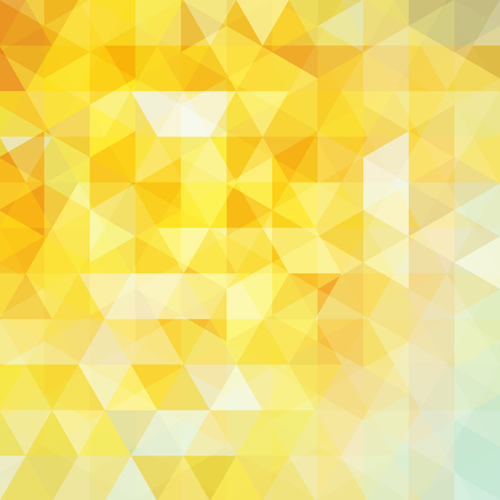 abstract background consisting of yellow triangles, vector illustration Ilustração