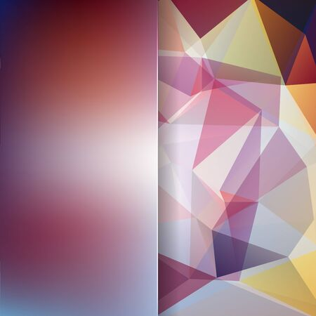 matt: abstract background consisting of brown, white triangles and matt glass, vector illustration
