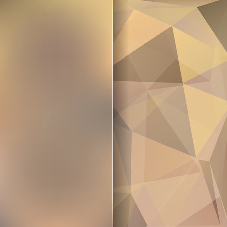 abstract background consisting of beige, brown triangles and matt glass, vector illustration