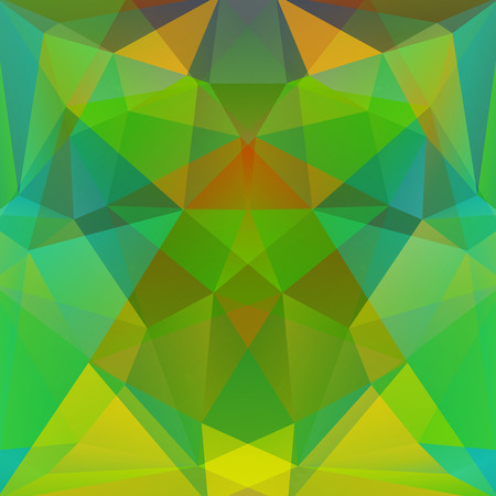 specular: abstract background consisting of green, yellow triangles, vector illustration