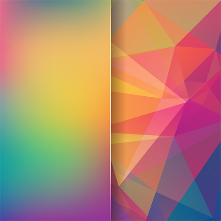 matt: abstract background consisting of rainbow-colored triangles and matt glass, vector illustration