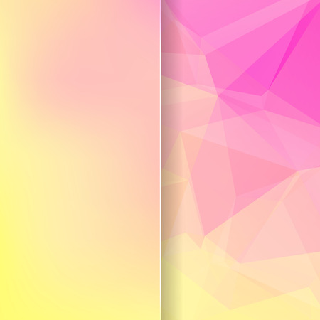 matt: abstract background consisting of yellow, pink triangles and matt glass, vector illustration
