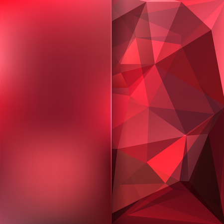 matt: abstract background consisting of red triangles and matt glass, vector illustration