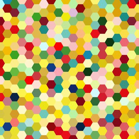 rosso verde: abstract background consisting of yellow, red, green hexagons, vector illustration
