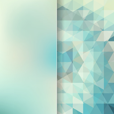 blue glass: abstract background consisting of light green, blue triangles and matt glass, vector illustration