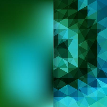 matt: abstract background consisting of green, blue black triangles and matt glass, vector illustration