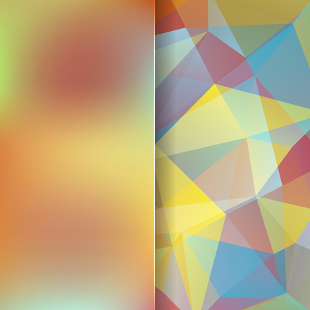 matt: abstract background consisting of yellow, beige, brown triangles and matt glass, vector illustration Illustration