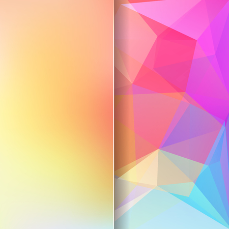 matt: abstract background consisting of yellow, pink, blue triangles and matt glass, vector illustration