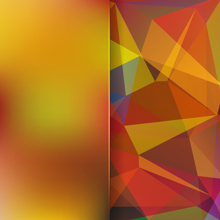 matt: abstract background consisting of brown triangles and matt glass, vector illustration