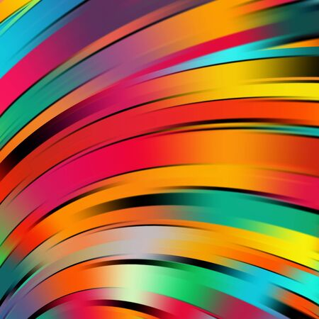 smooth background: Colorful smooth light lines background. Rainbow colors. Vector illustration