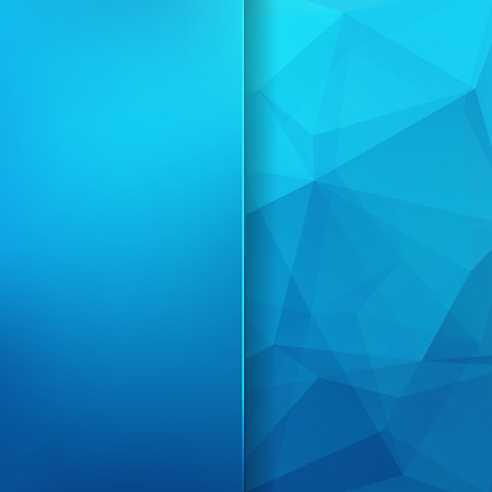 abstract background consisting of blue triangles and matt glass, vector illustration Illustration
